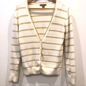 | Peck & Peck weekend | striped v neck cardigan
